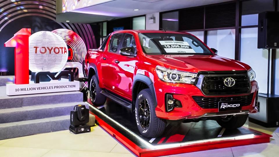 Toyota-Achievement-Thailand รถโตโยต้าคันที่ 10 ล้านของการผลิต