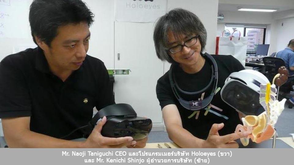 Mr. Naoji Taniguchi CEO Mr. Kenichi Shinjo Holoeyes