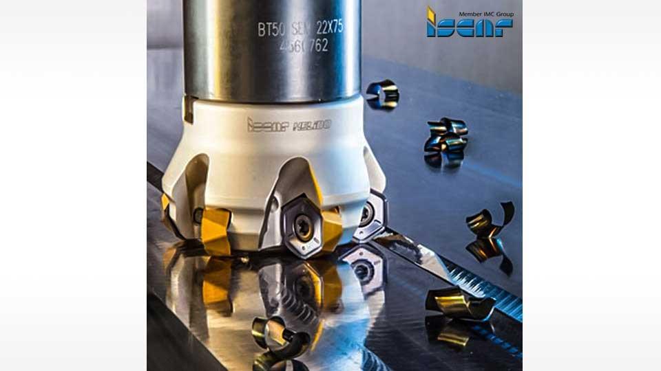 ISCAR HELIDO 1200 UPFEED LINE เม็ดมีดกัดมิลลิ่งความเร็วปานกลาง สำหรับงานกัดผิวราบ และสามารถกัดงานที่ใกล้กับผนังบ่าฉาก