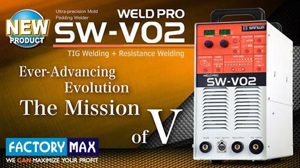 เครื่องเชื่อมความละเอียดสูง Sanwa SW-V02 ซ่อมแม่พิมพ์