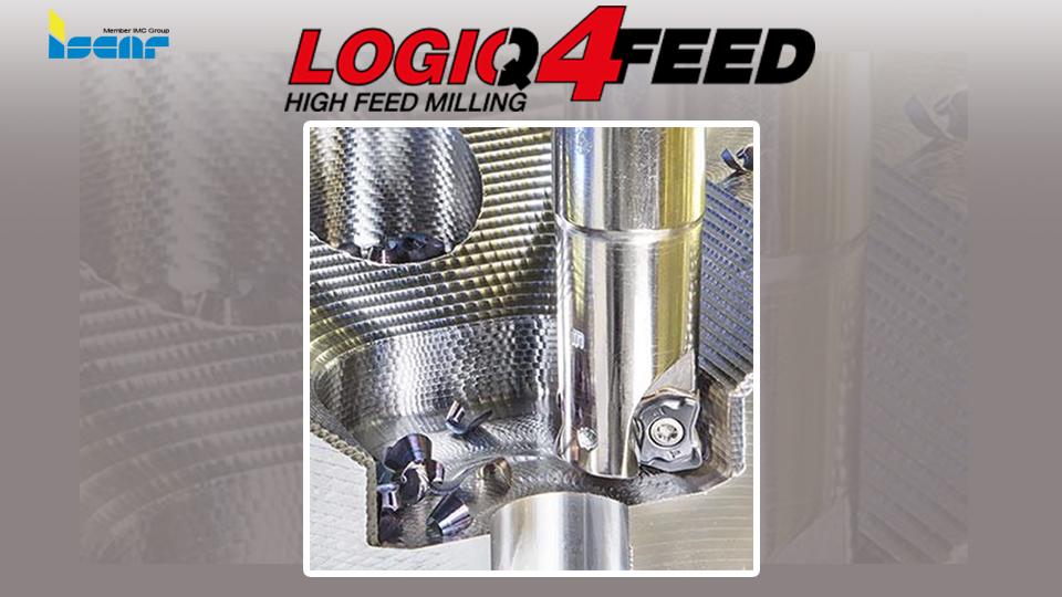 เม็ดมีดทรงบิดเกลียว LOGIQ 4 FEED สำหรับงานกัดอัตราป้อนสูง จาก Iscar