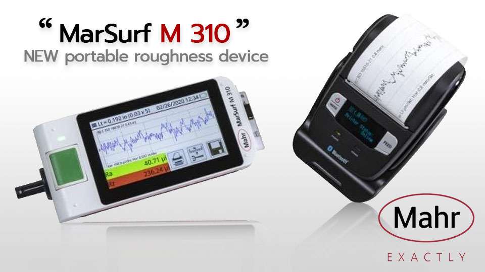 MarSurf M 310, portable roughness device from Mahr with IATF compliant