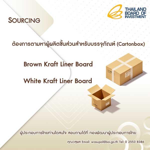 Sourcing หาผู้ผลิตชิ้นส่วนสำหรับบรรจุภัณฑ์ (Cartonbox)