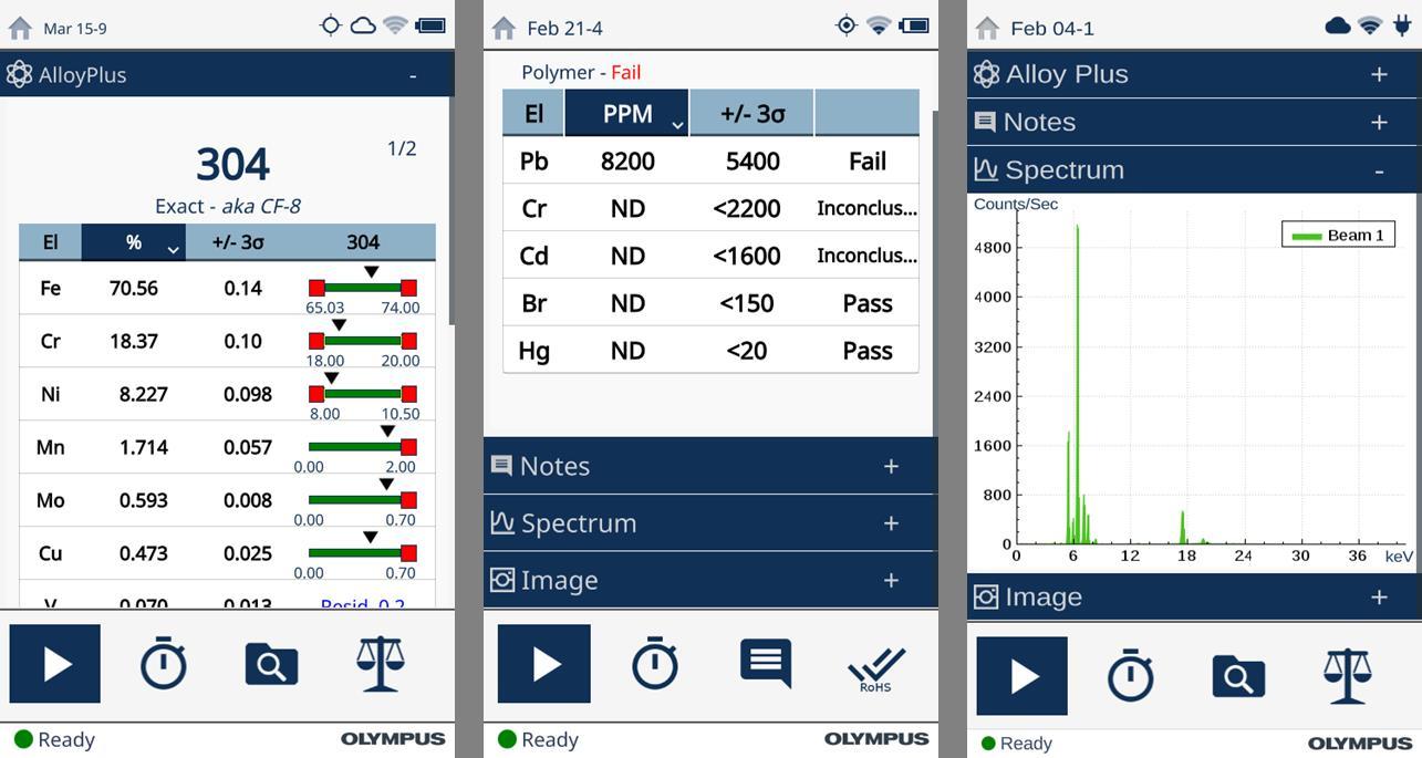 Olympus Vanta handheld X-ray fluorescence (XRF) analyzers