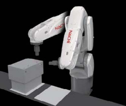 NACHI-MZ01 งานโหลดชิ้นงานเข้าเครื่องจักร