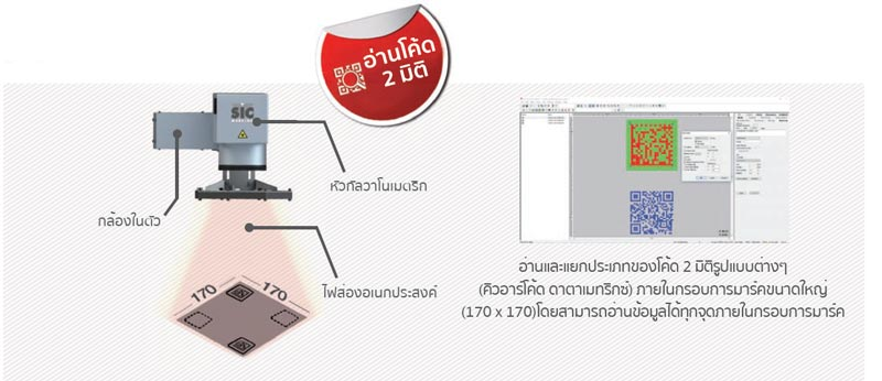 SIC Laser marking การมาร์คและอ่านค่าในตัว