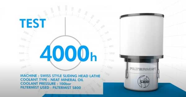 กำจัดละอองน้ำมันขนาดเล็กได้ดี ต้องมี Filtermist S Fusion filter