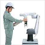 CZ10 NACHI Cobot is easy programming ตั้งโปรแกรมง่ายเพียงย้ายแขนหุ่นยนต์ไปยังจุดที่ต้องการ