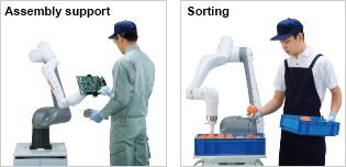 หุ่นยนต์ปฏิบัติงานร่วมกับมนุษย์ CZ10 NACHI Cobot – Best in applications: Assembly support, Sorting