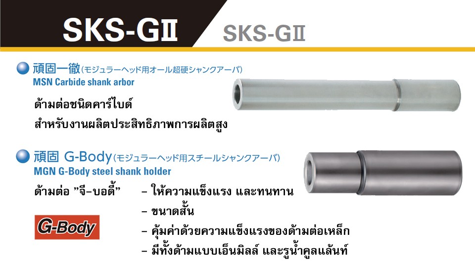 DIJET SKS-GII หัวกัดมิลลิ่งไฮฟีด เม็ดมีด 4 มุม - Milling Cutter for high feed machining